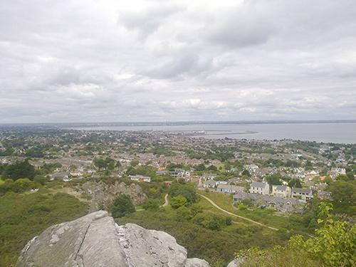 Blick von Dalkey Quarry in Richtung Dublin