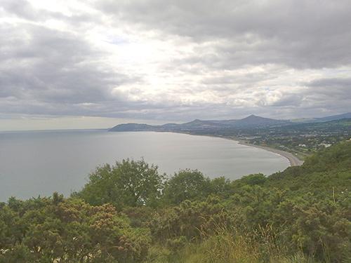 Blick von Killiney Hill in Richtung Bray und Wicklow